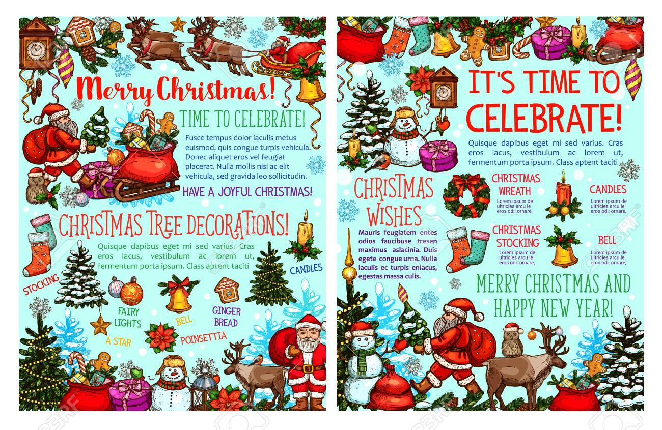 Frohe Weihnachten Wunsch.Stock Photo