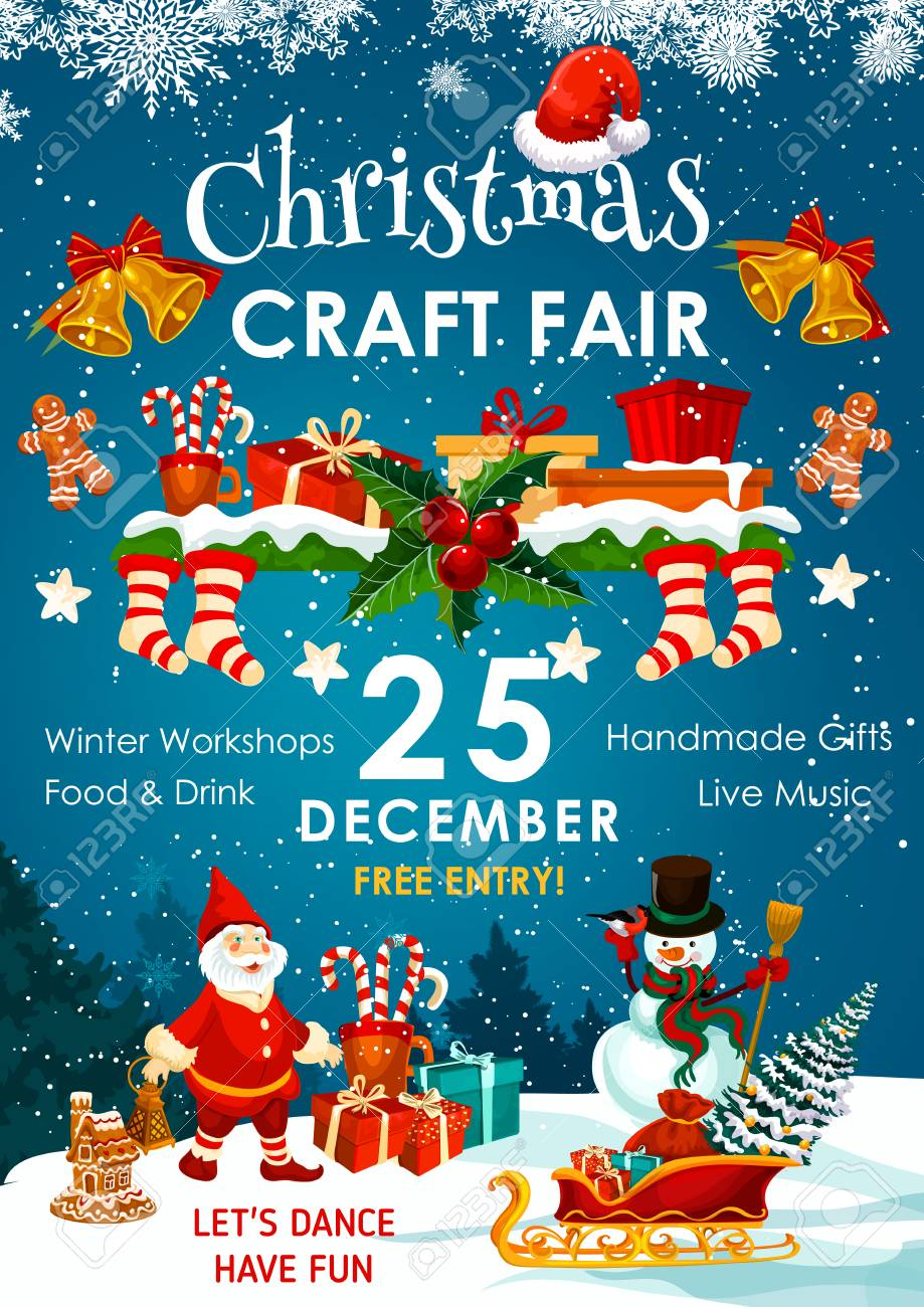 Christmas holiday fair or winter market invitation - 91102231