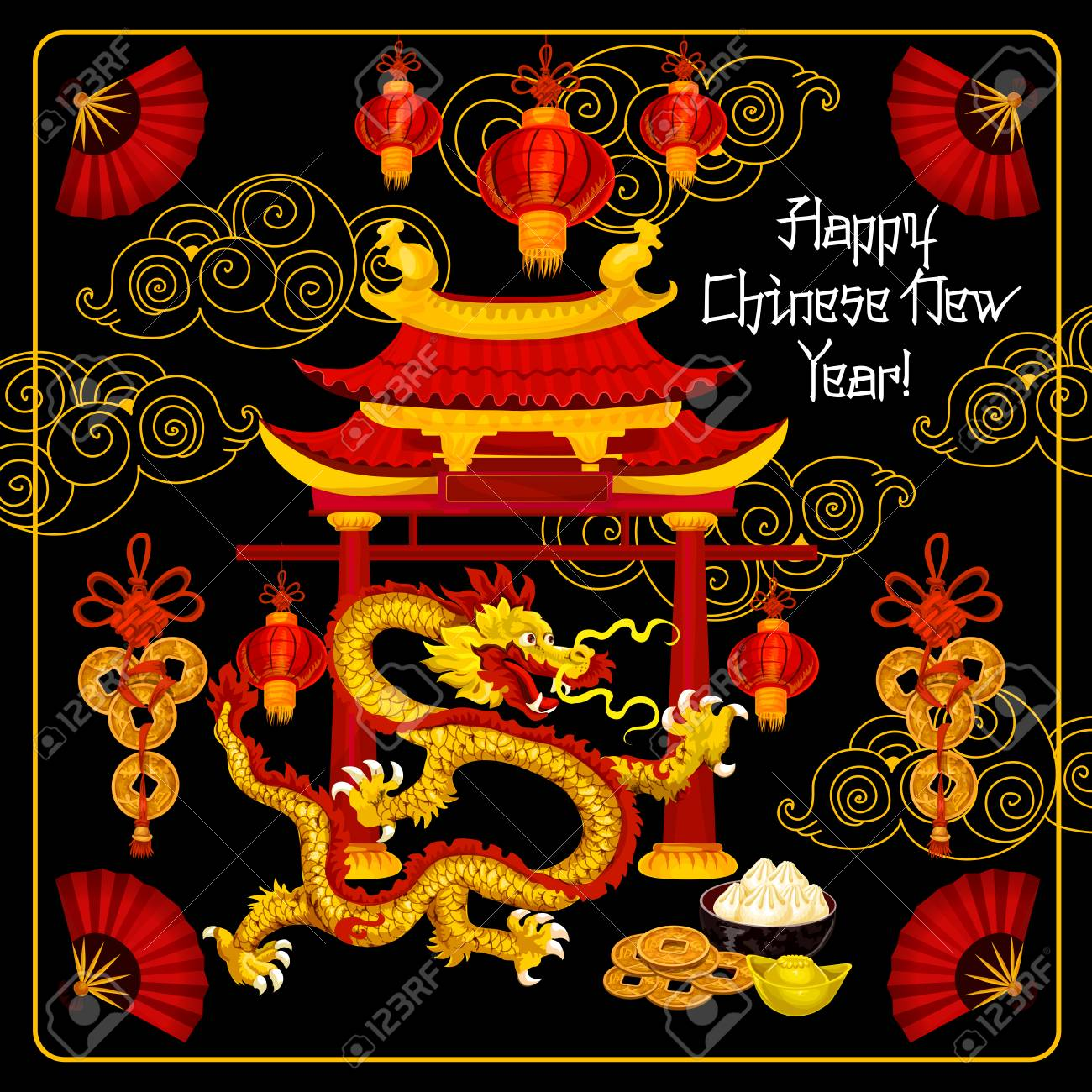 happy chinese new year banner stock vector 91825865