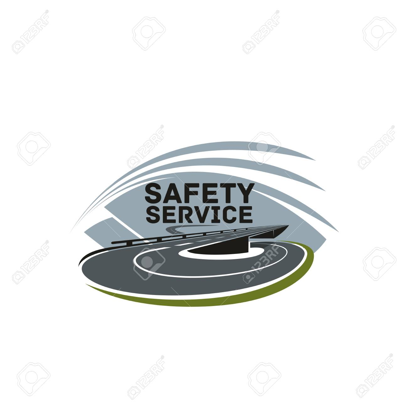 Road Safety Or Highway Construction Company Icon Design Template