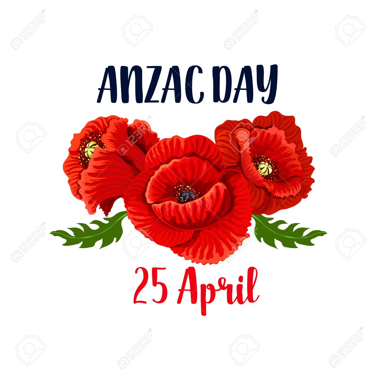 Anzac day banner template with red poppy flowers icon design anzac day banner template with red poppy flowers icon design stock vector 93367231 mightylinksfo