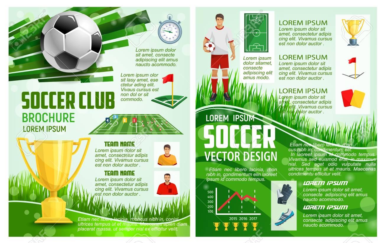 Vector brochure for soccer sport football game - 94133422