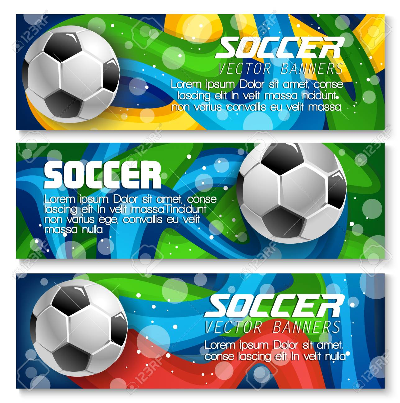 soccer banners background templates design for football sport