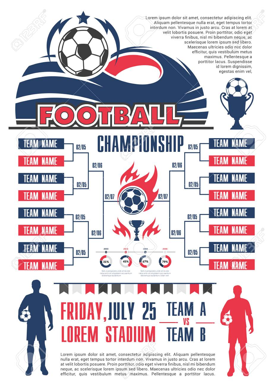 football championship cup schedule banner template list of soccer