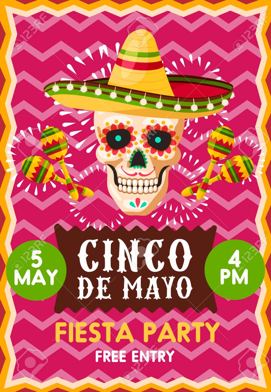 poster template for cinco de mayo party royalty free cliparts