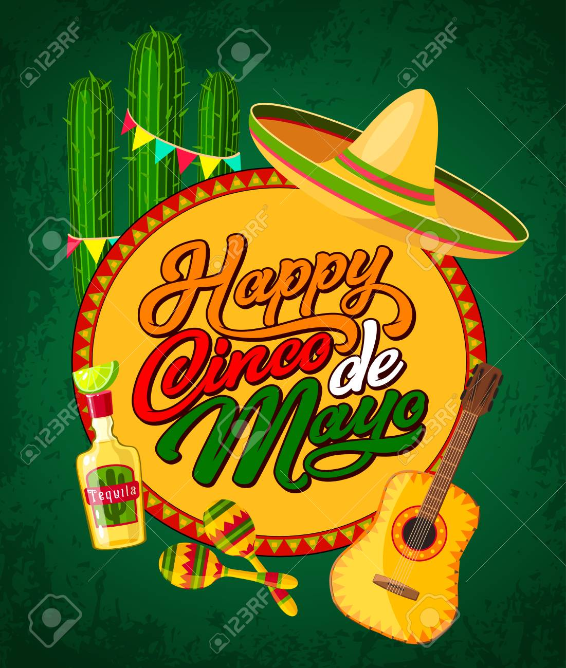Happy Cinco De Mayo Festive Banner With ...