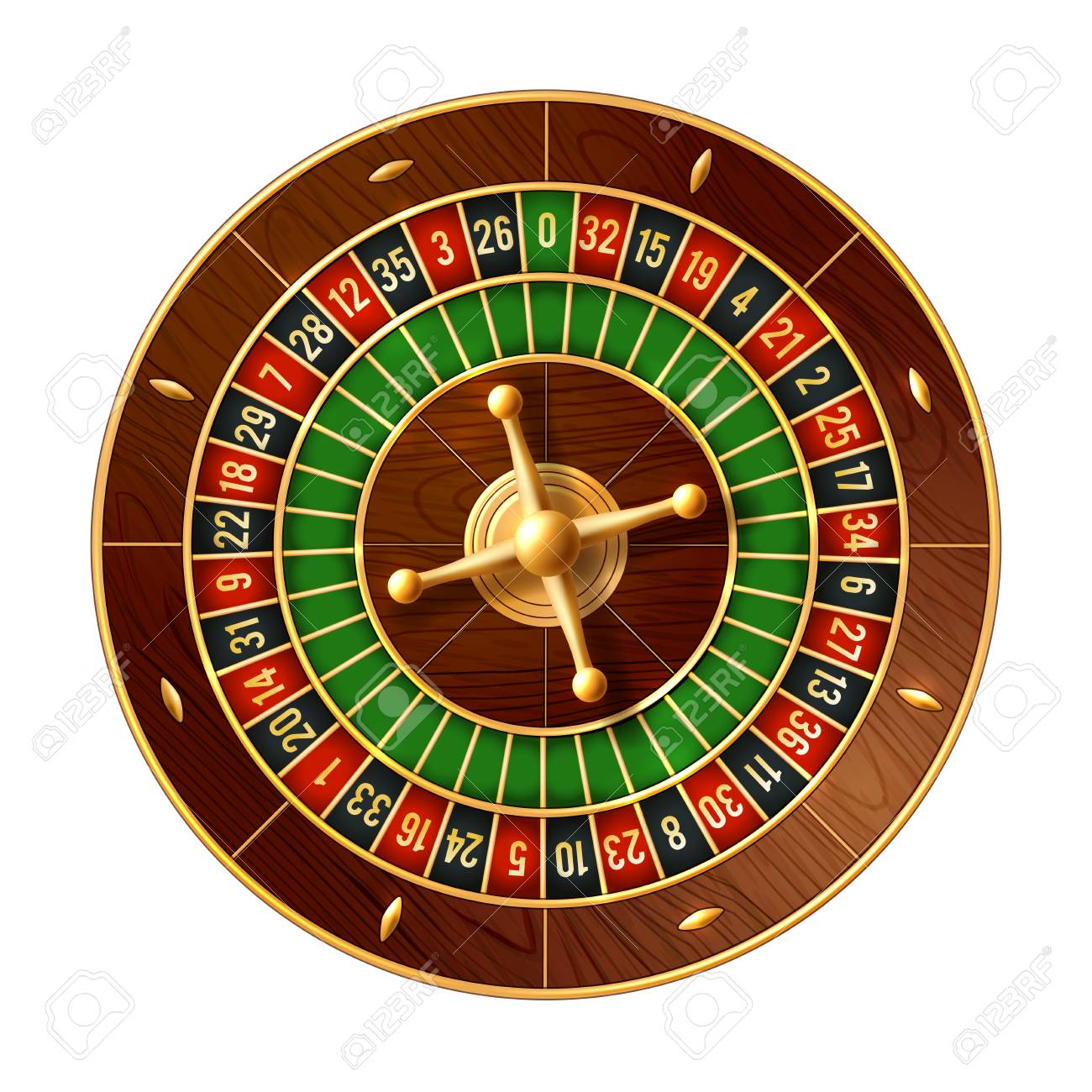 Casino Roulette Wheel 3d Vector Of Gamble Game Royalty Free Cliparts Vectors And Stock Illustration Image 104013924