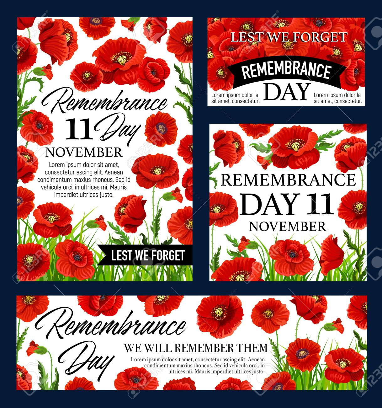 Red poppy flower remembrance day memorial banner royalty free red poppy flower remembrance day memorial banner stock vector 105483947 mightylinksfo
