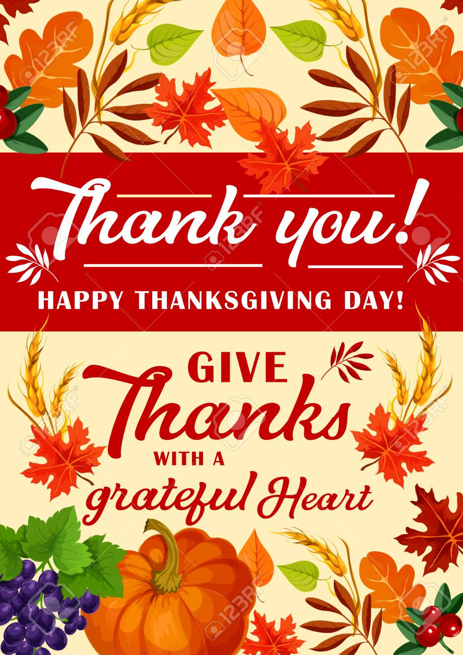Happy Thanksgiving Day Greeting Card For Traditional Harvest Royalty Free Cliparts Vectors And Stock Illustration Image 112226919