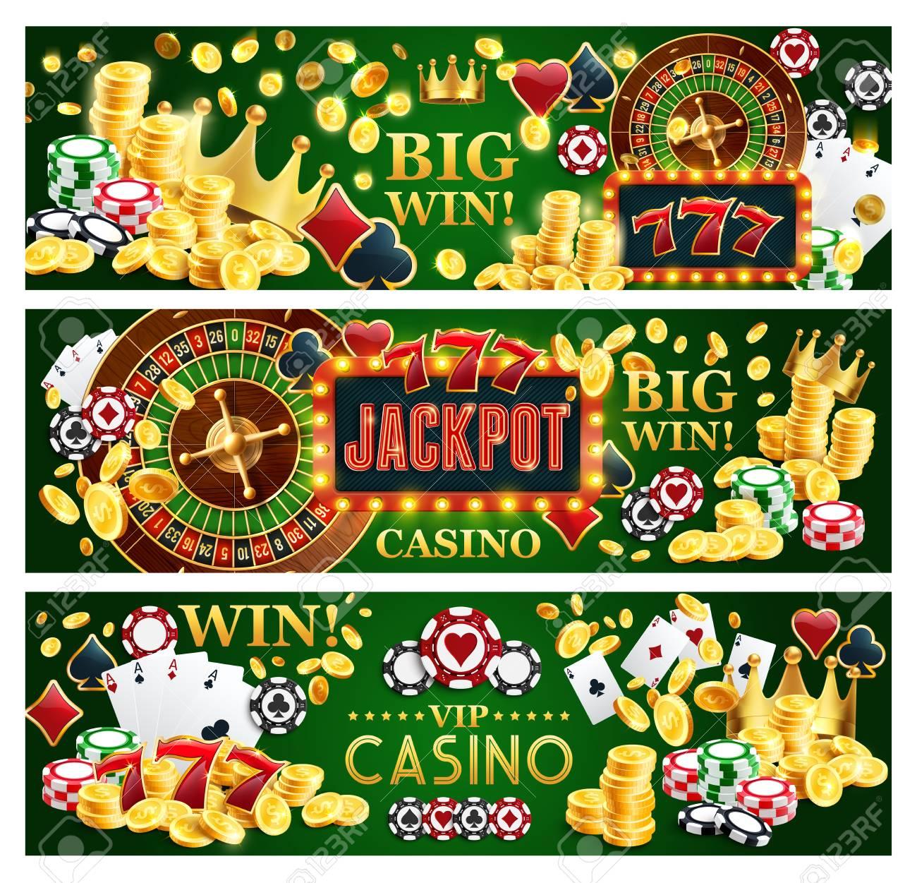 Online casino jackpot gamble game banners, Internet gambling