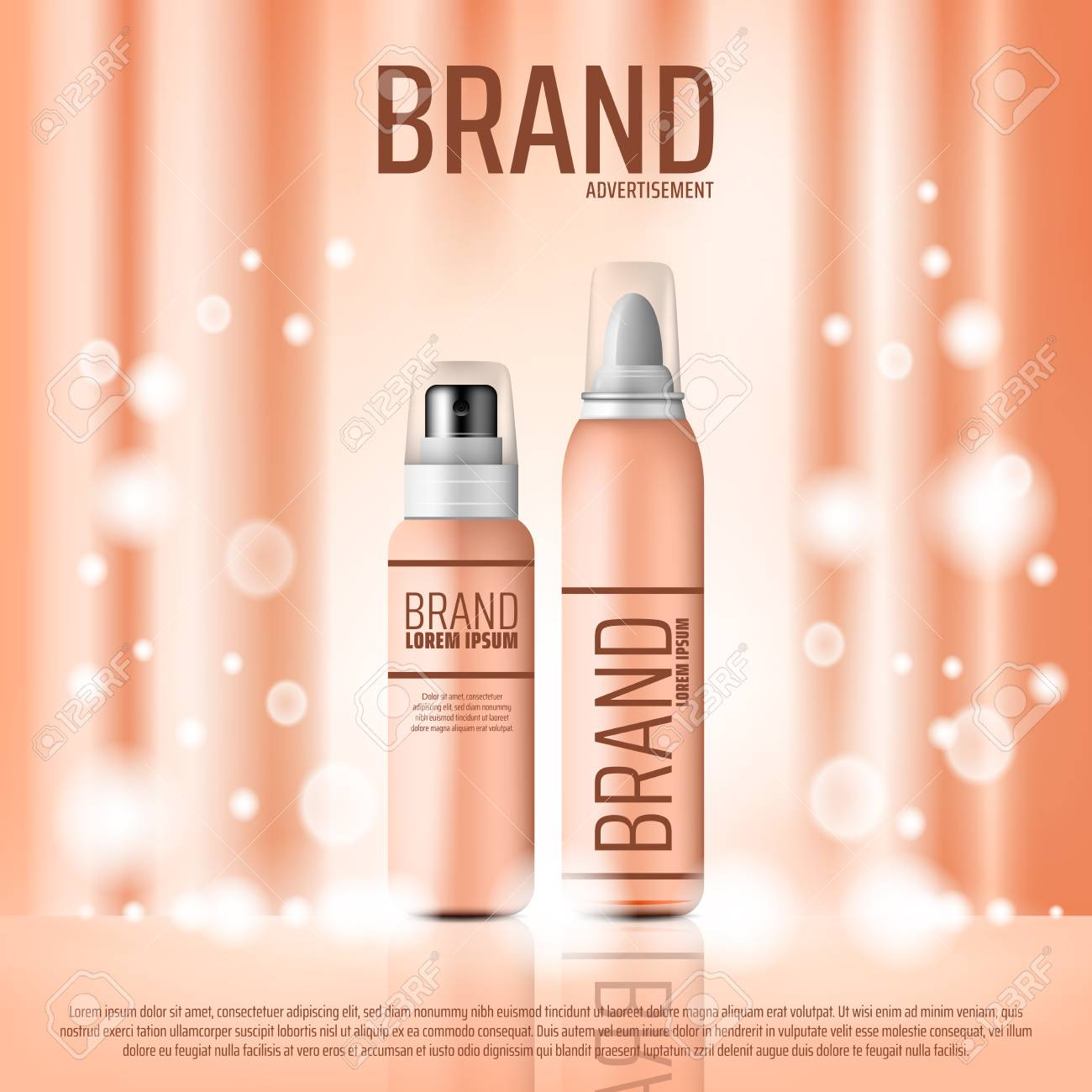Cosmetics Advertising Banner Of Skin Care Or Hairstyling Product Royalty Free Cliparts Vectors And Stock Illustration Image 110122343
