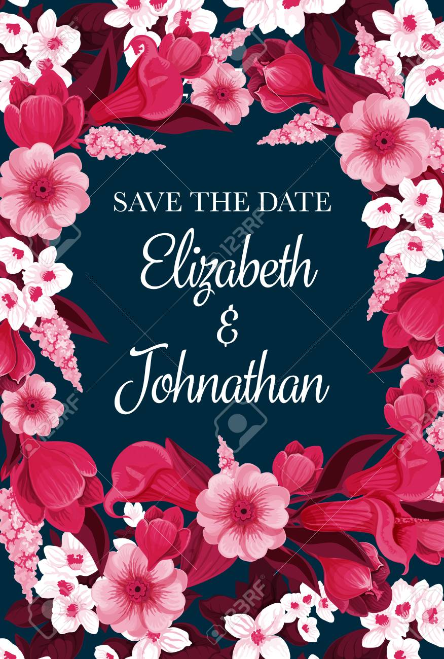 Save The Date Design For Engagement Party Invitation Card For