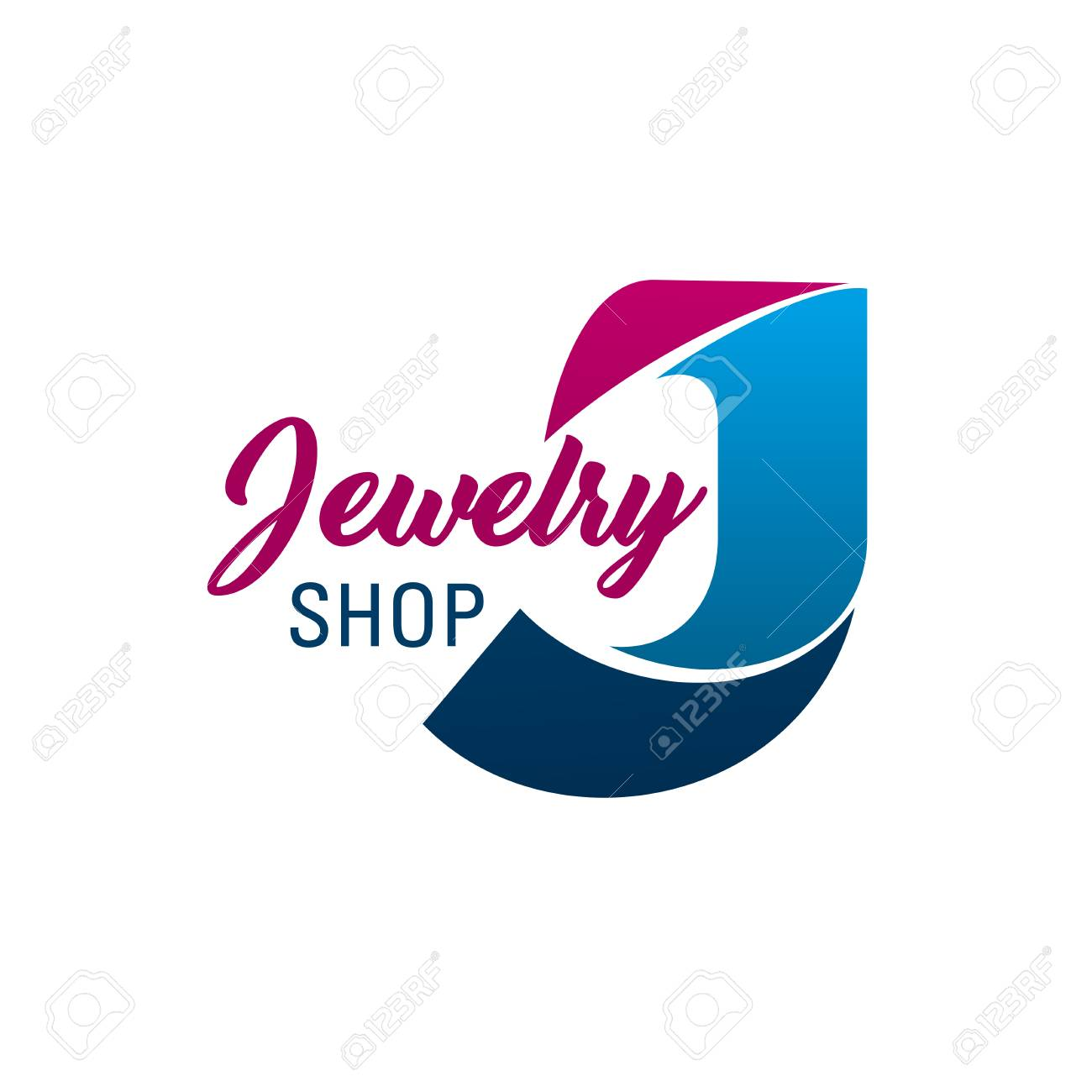 Letter J icon for jewelry shop or diamonds and fashion jewel accessories boutique. Vector letter J symbol for luxury silver, gold and precious jewelry gems luxury brand shop or bijouterie salon - 114195760