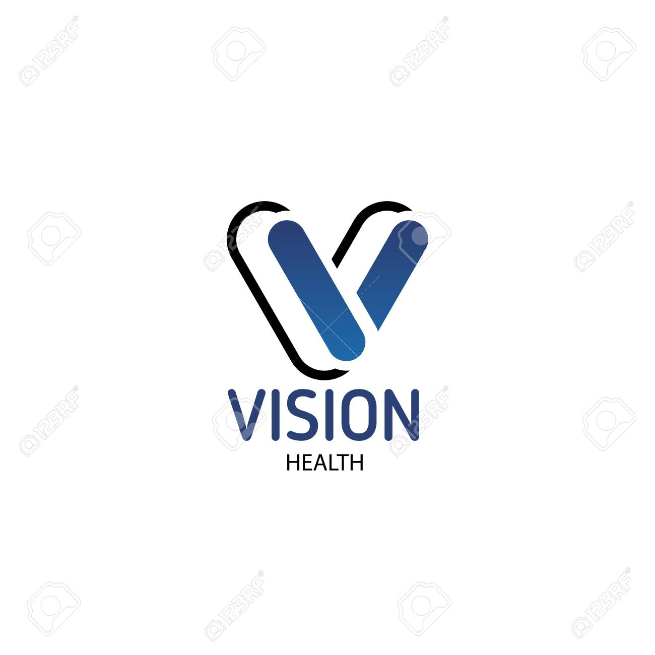 Vector emblem vision health  Creative design for eye clinic or