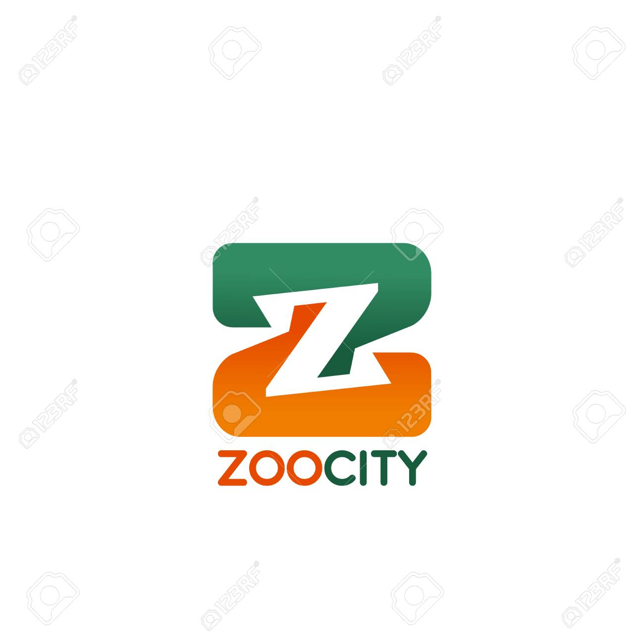 Zoo city letter Z icon for public animal park or pet store and
