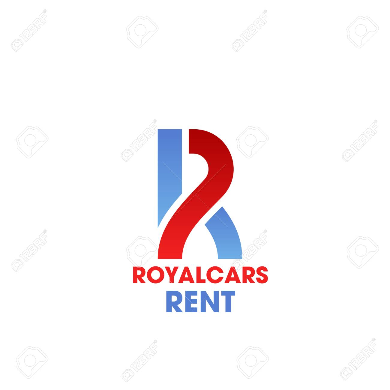 Royal Cars Rent R Letter Icon For Car Rental Luxury Service Or