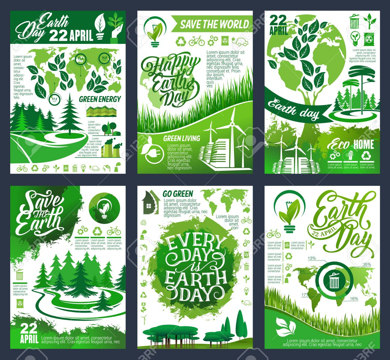 Earth Day Eco Banner Of Save Planet And Go Green Concept Ecology Royalty Free Cliparts Vectors And Stock Illustration Image 126298065