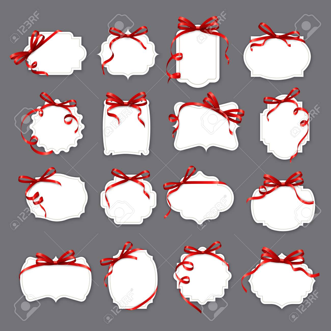 Christmas Save The Date Clipart.Frames And Red Ribbons Valentine Day Wedding And Save The Date