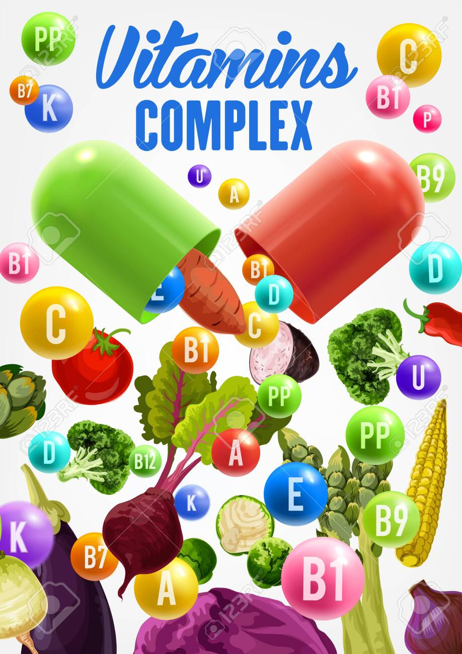 Vitamins and health benefits of vegetables vector design  Broccoli,
