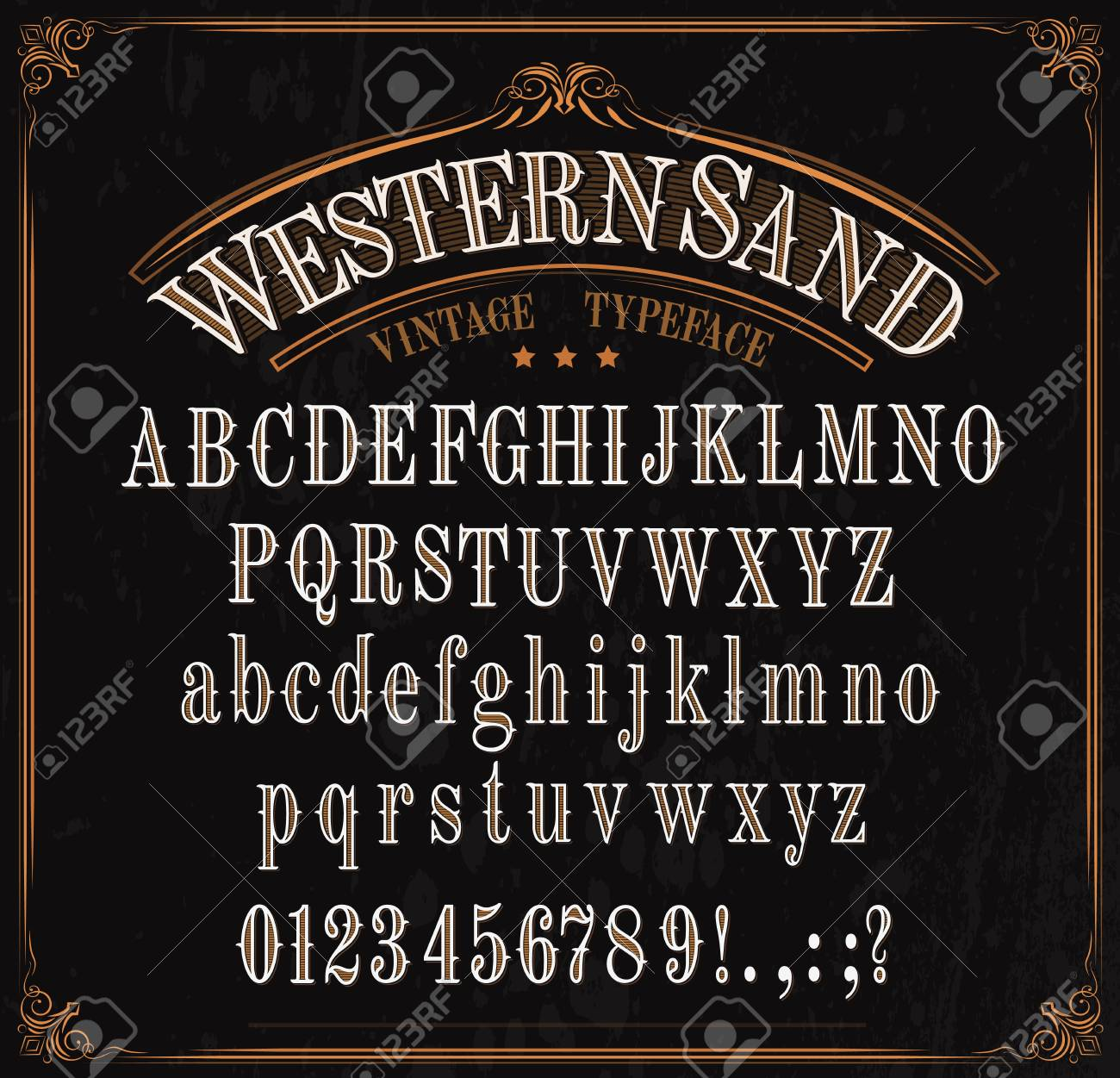 https://previews.123rf.com/images/seamartini/seamartini1905/seamartini190500326/123675607-western-font-letters-vector-vintage-typeface-in-retro-vignette-frame-english-abc-uppercase-and-lower.jpg