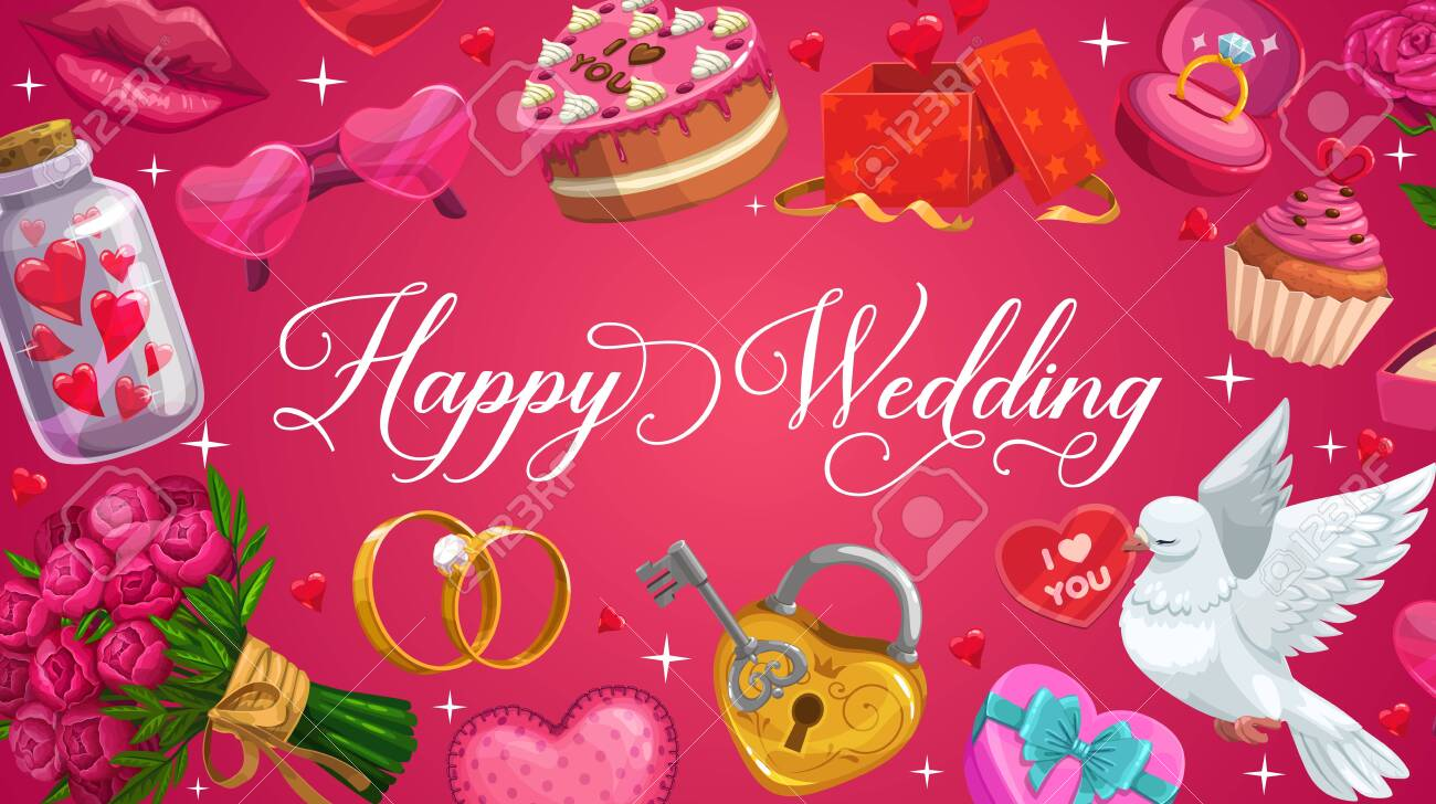Wedding Save The Date Greeting Love Hearts And Flowers Vector Royalty Free Cliparts Vectors And Stock Illustration Image 124634635