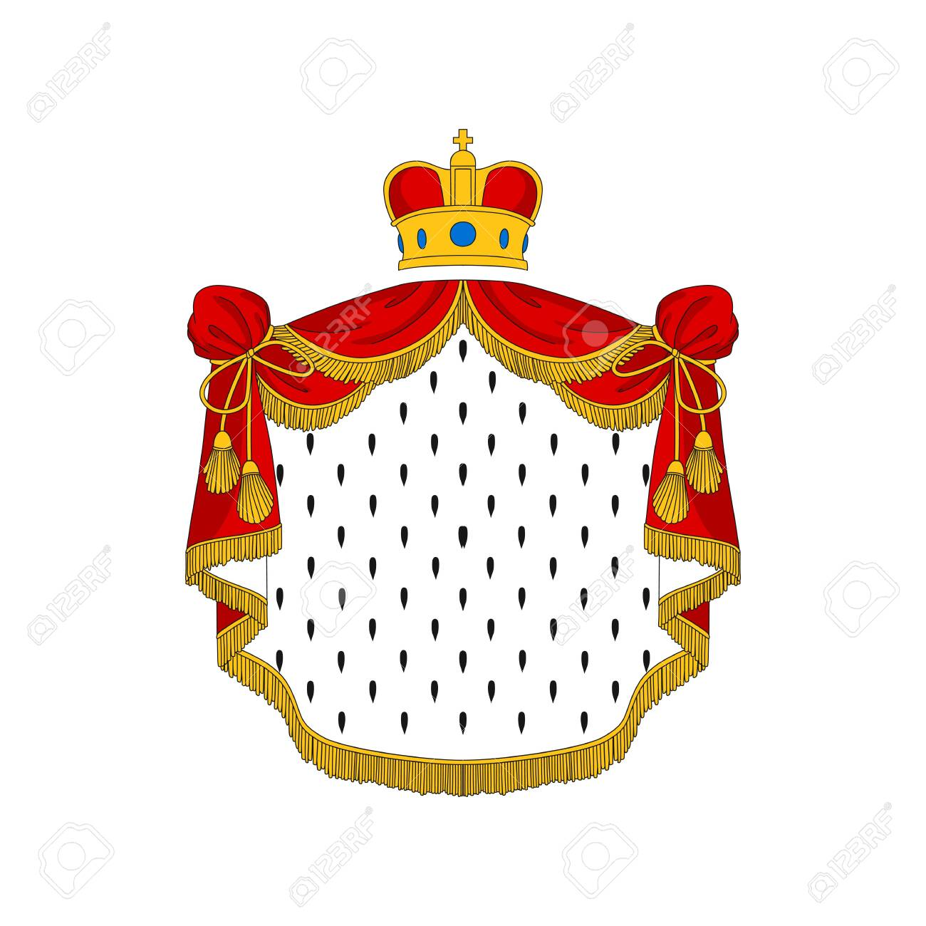 Royal Cape And Crown Color Vector Illustration Cartoon King Royalty Free Cliparts Vectors And Stock Illustration Image 144288370 Download this premium vector about medieval crowns cartoon color illustrations set., and discover more than 10 million professional graphic resources on freepik. royal cape and crown color vector illustration cartoon king