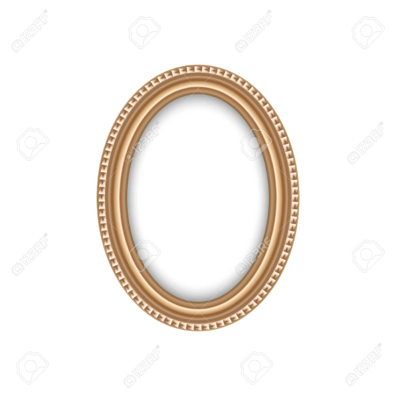 Oval antique frame isolated blank border. - 144409385