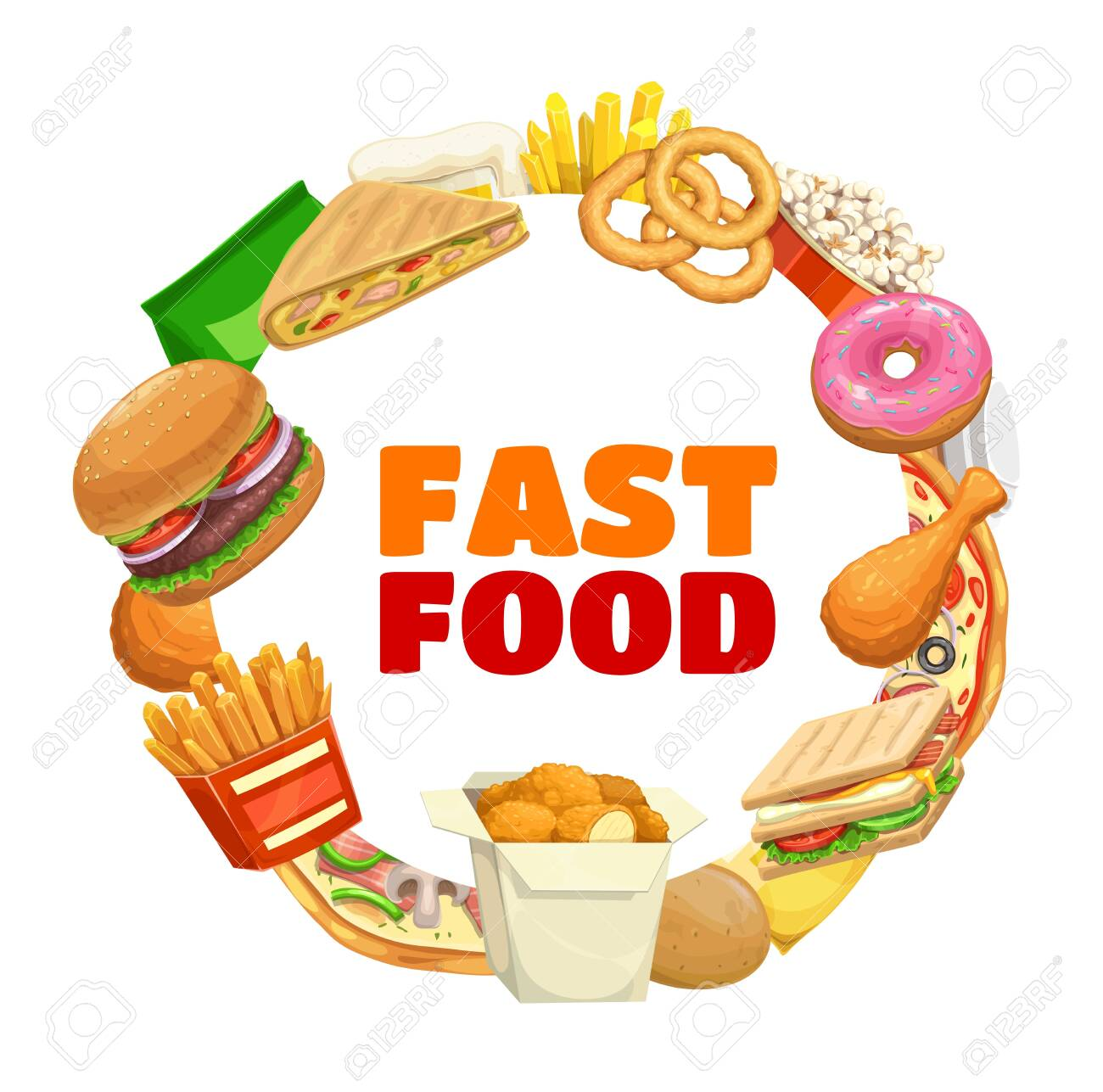 Burger And Pizza Menu Vector Fast Food Restaurant Drinks Meals Royalty Free Cliparts Vectors And Stock Illustration Image 152374019