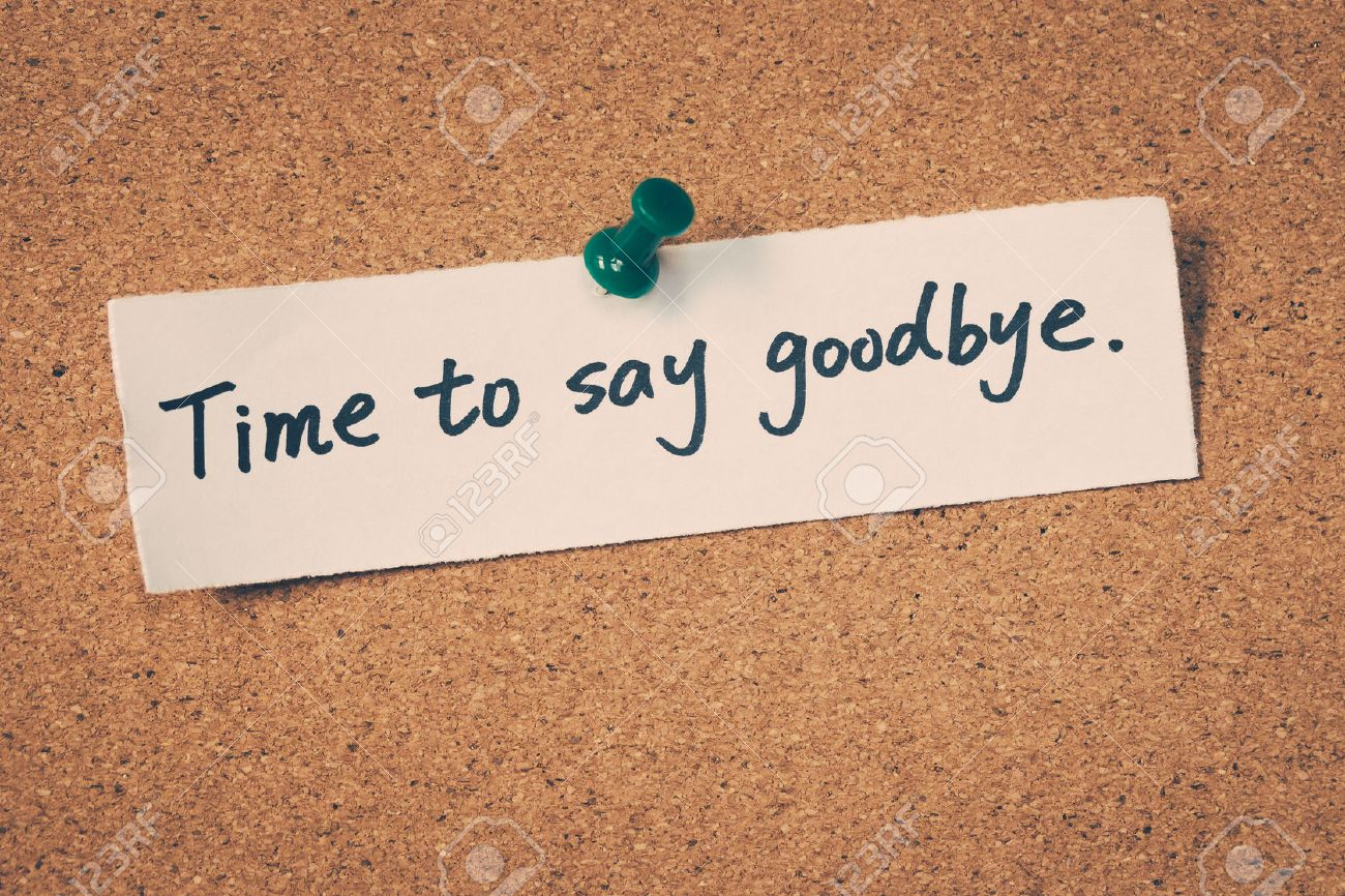 Time To Say Goodbye Stock Phot...