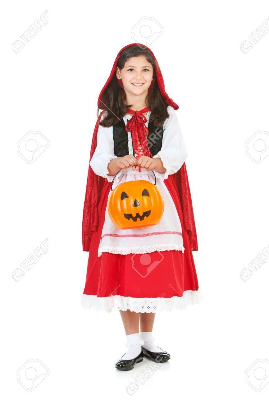 Caperucita Roja Halloween.Serie De Halloween Con Los Ninos Lindos Vestidos Como Dracula Un Pirata Y Caperucita Roja Aislado En Blanco
