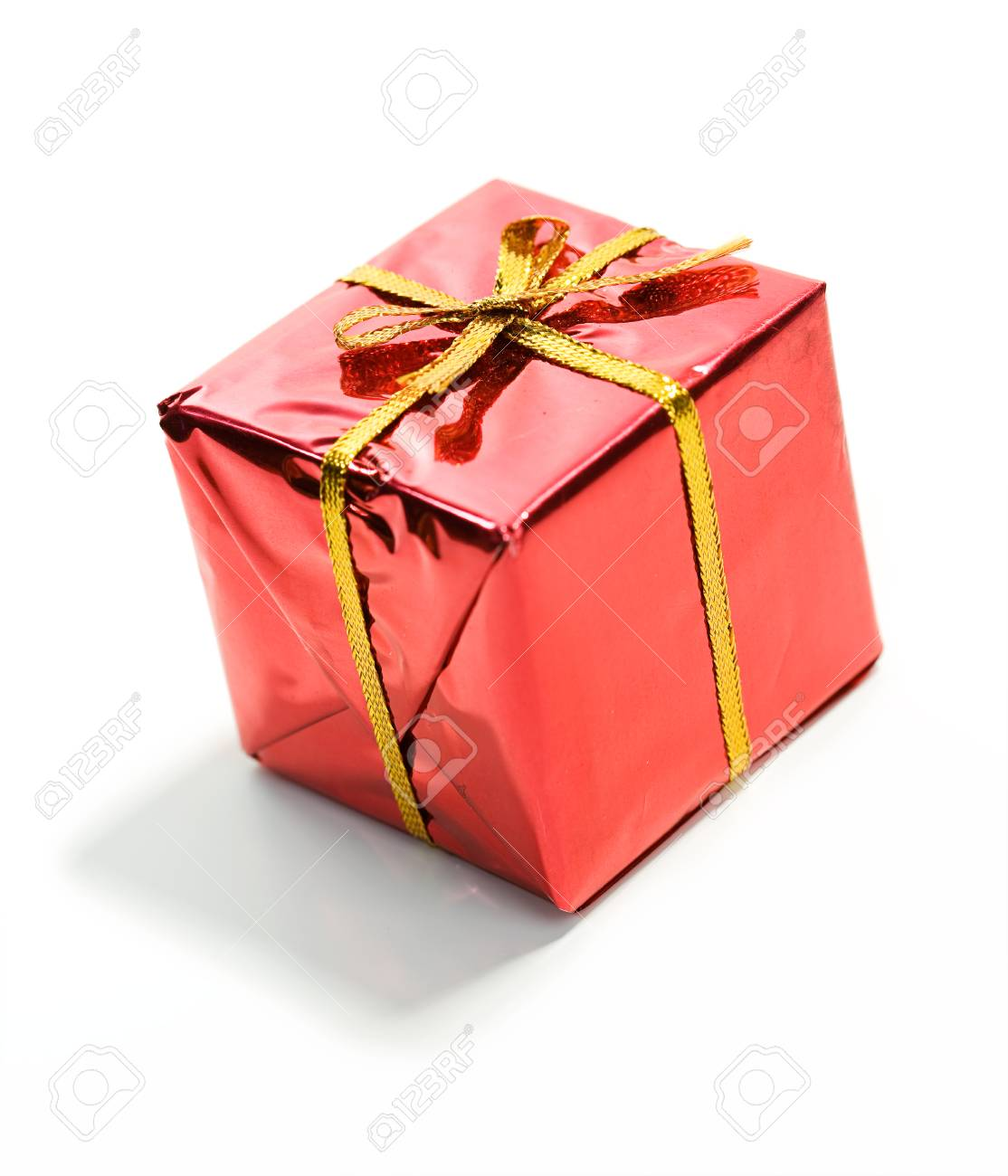 Gifts: Tiny Red Wrapped Christmas Gift Stock Photo, Picture And ...