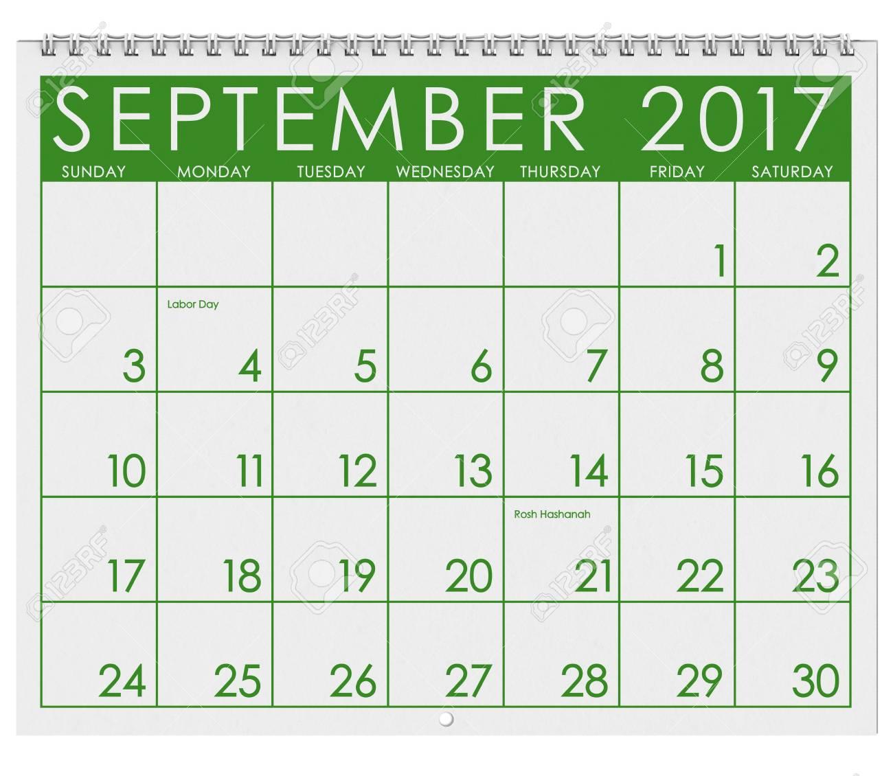 Calendrier Mois De Septembre.2017 Calendrier Mois De Septembre Avec La Fete Du Travail