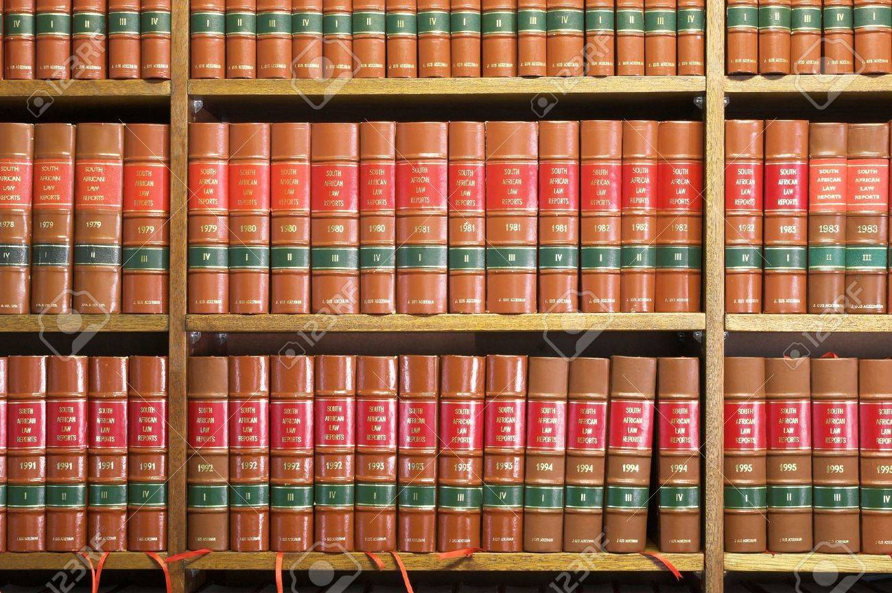 Legal Library in wooden bookcase Stock Photo - 233177