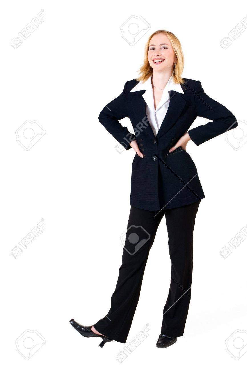 business w in formal black suit hands on hips full business w in formal black suit hands on hips full length copy space