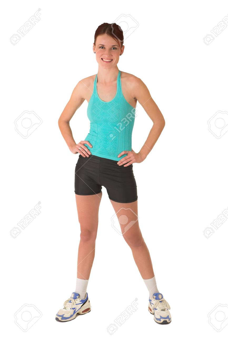Woman standing with hands on her hips. Stock Photo - 526600