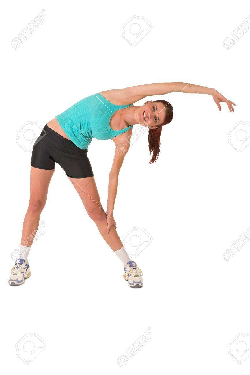 Woman stretching. Stock Photo - 572343