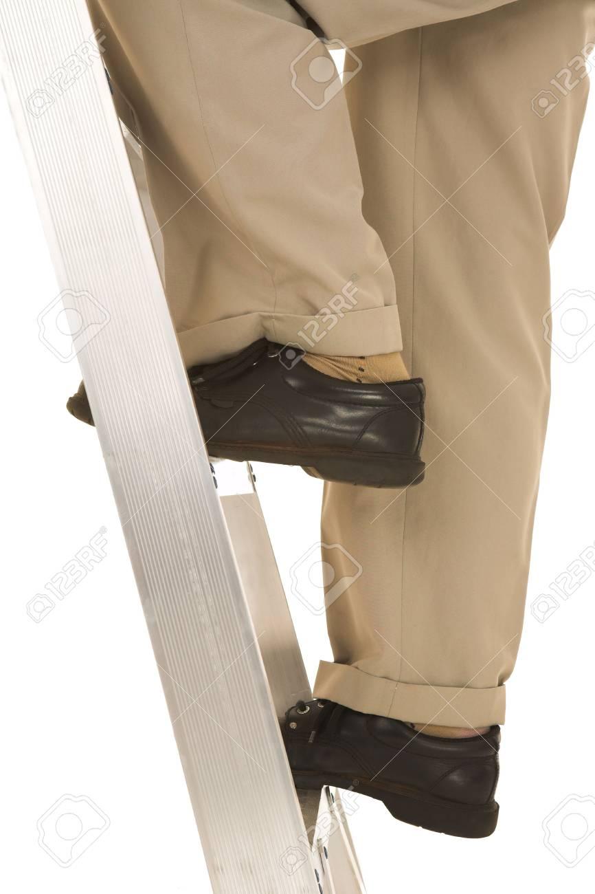 Man climbing the corporate ladder. Stock Photo - 841809