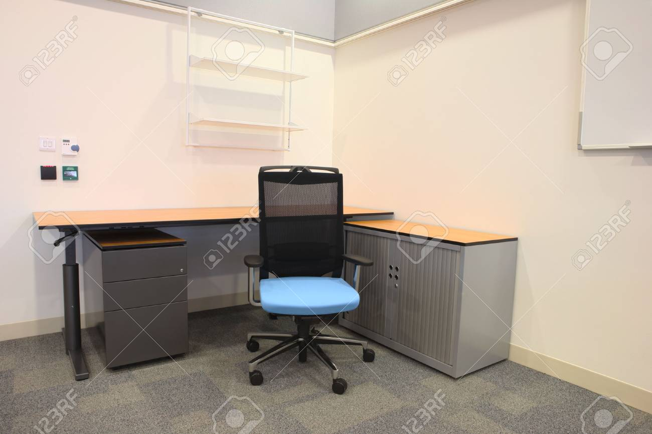 Empty Office With New Modern Office Furniture Including Desks Stock Photo Picture And Royalty Free Image Image 2831952