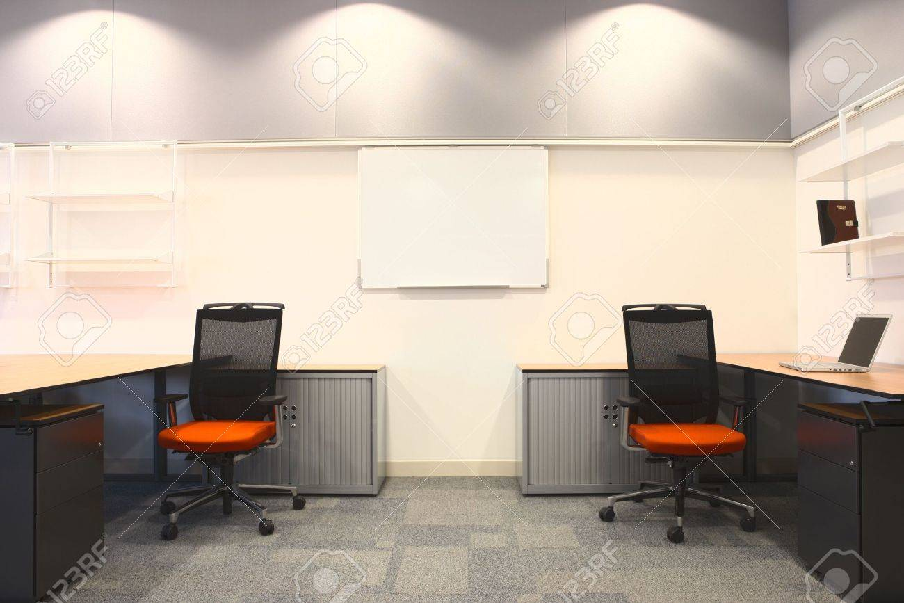 empty office with new modern office furniture including desks  - empty office with new modern office furniture including desks cupboardsfiling cabinets and