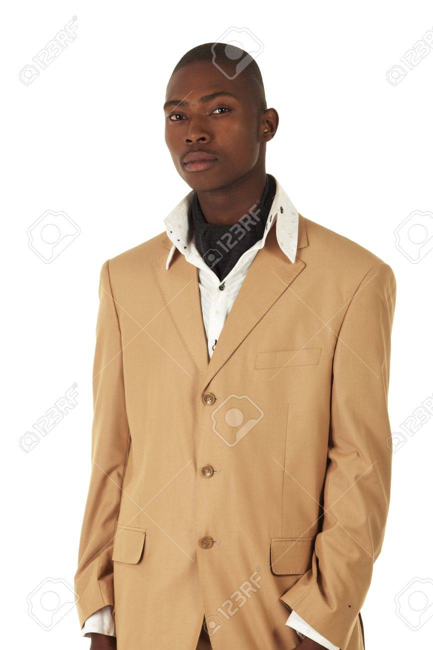 Young Professional Black African Adult Businessman In A Camel