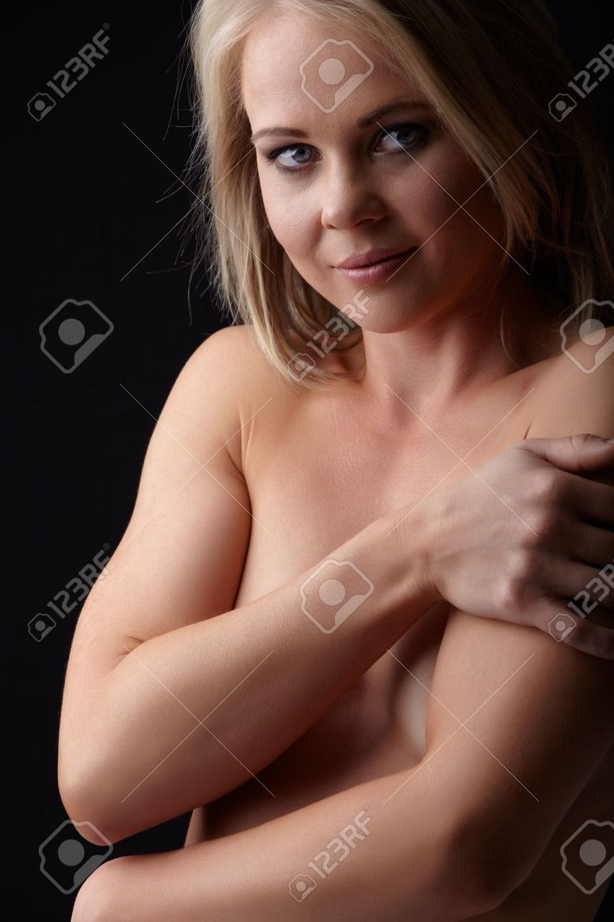 Blonde hair blue eyed naked women