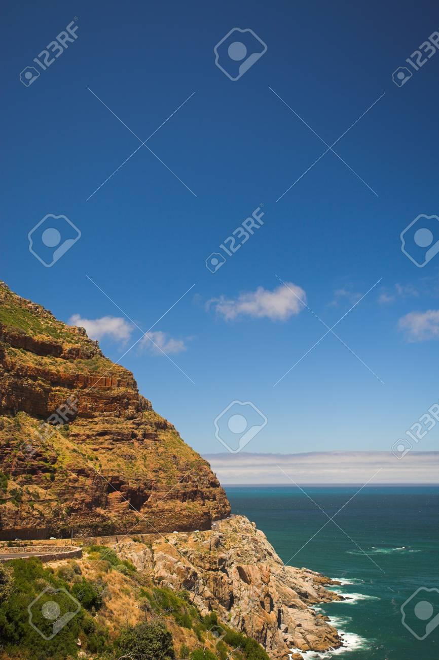 The dangerous winding road on Chapmans Peak, South Africa Stock Photo - 19372826