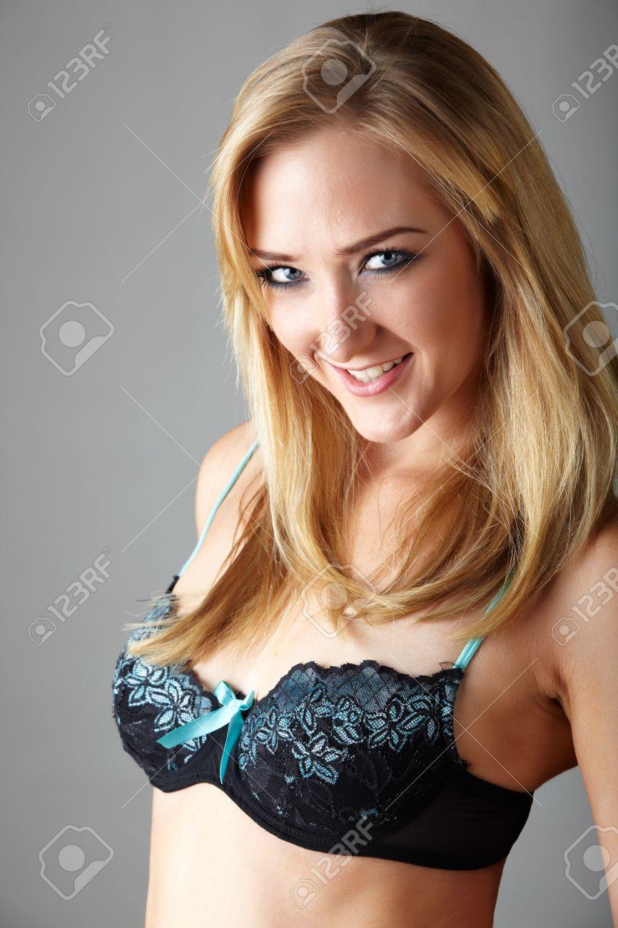 Sexy blonde hair blue eyes