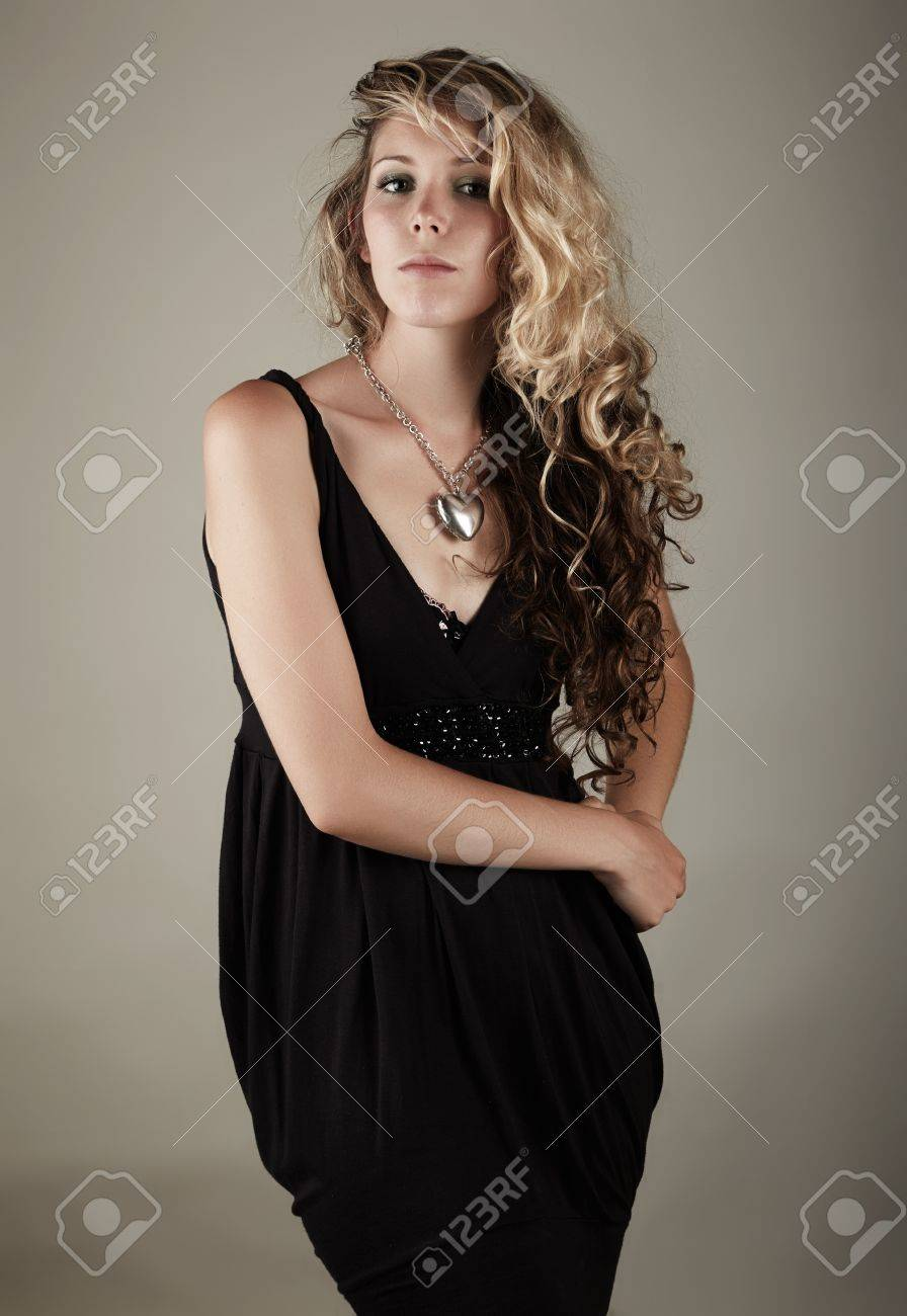 Beautiful Young Blonde Caucasian Woman With Long Curly Honey Stock Photo Picture And Royalty Free Image Image 19599957
