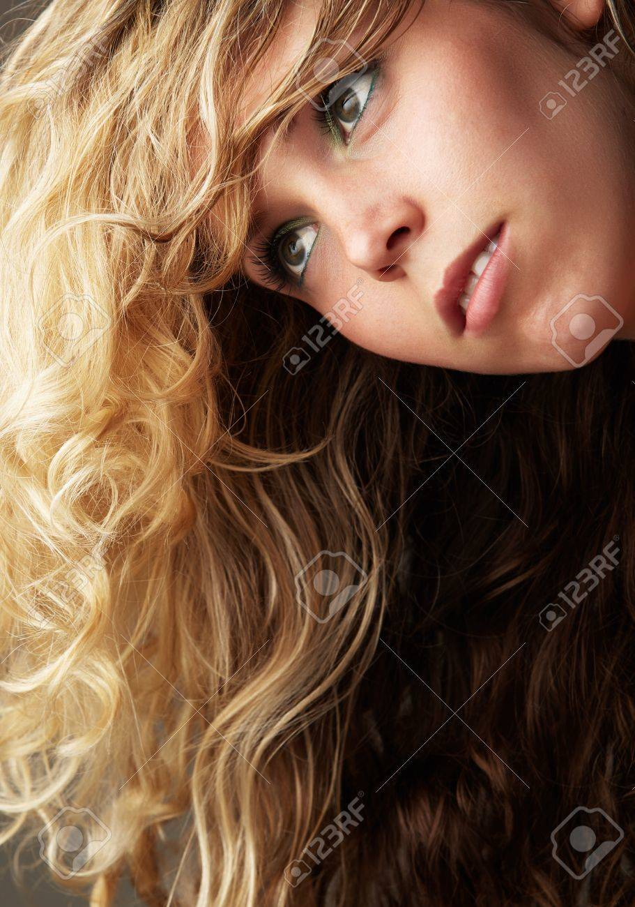 Beautiful Young Blonde Caucasian Woman With Long Curly Honey Stock Photo Picture And Royalty Free Image Image 20736672