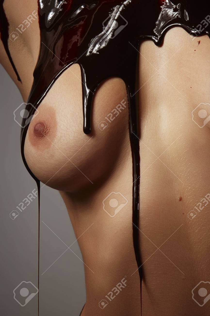 Chocolate Syrup On Boobs