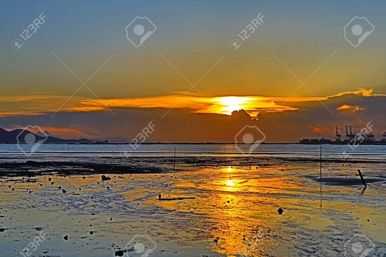 sunset of Coastline Stock Photo - 15795101