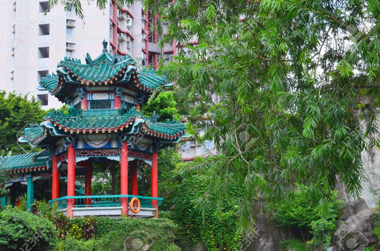 A photo of Wong Tai Sin Temple, Hong Kong Stock Photo - 21211408