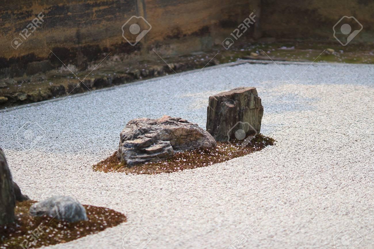 Jardin De Pierre Du Temple De Ryoan Ji A Kyoto Banque D Images Et