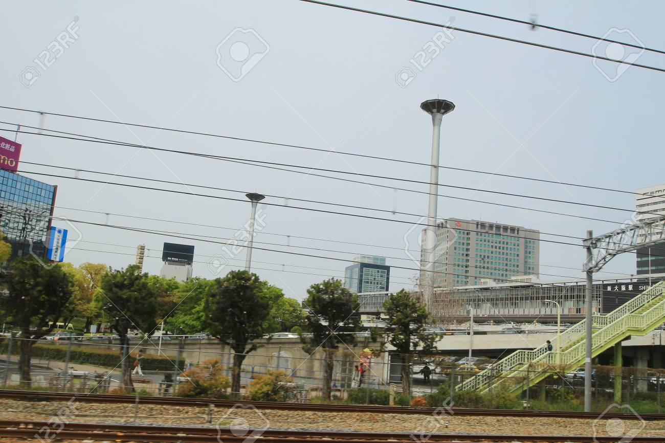 Osaka to Kobe View out of train